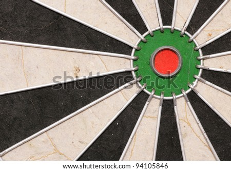Dartboard abstract background rule of thirds