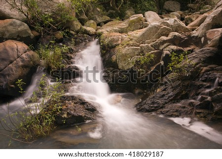 Datanla waterfall, central highlands, Dalat, Vietnam, Southeast Asia, Asia