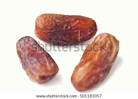 date palm,Its dry-stone White background