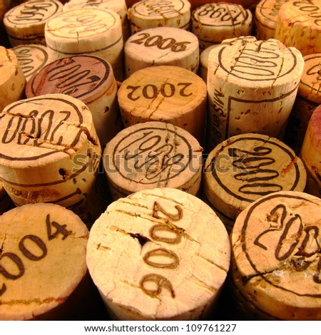 Dated Wine Bottle Corks with Staggered Heights. View 4.