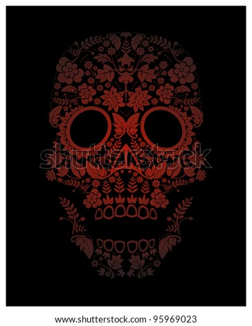 day of the dead skull pattern (raster version)