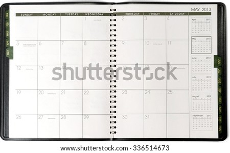 Day Planner/Calendar - Isolated