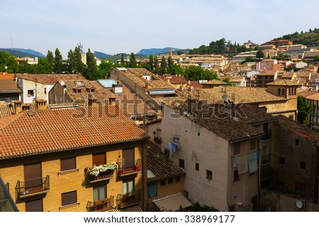 Day view  of historic part of  Estella-Lizarra.   Spain