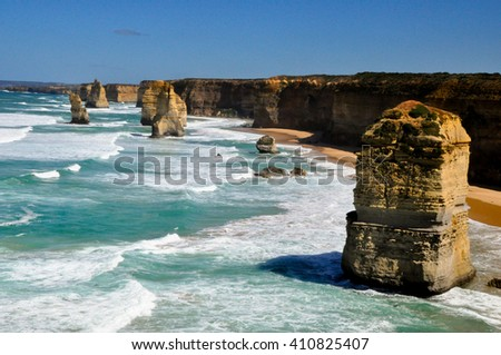 daylight view at coast of Twelve Apostles by Great Ocean Rd, Australia
