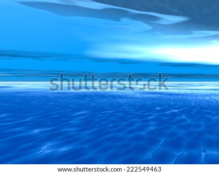 Daytime sky with sea and clouds