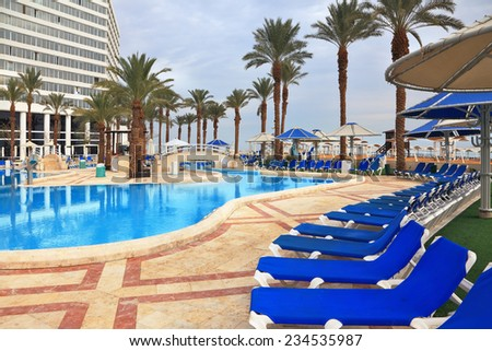 Luxury white house swimming pool luxury stock photo 598242947 shutterstock for Hotels in jerusalem with swimming pool
