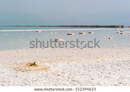 Dead Sea landscape, the  saltiest sea in the world
