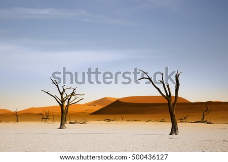 Deadvlei Dunes at sunrise,Namibia