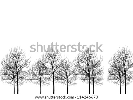 Death trees on white background.