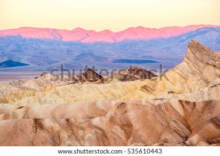 Death Valley National Park - Zabriskie Point at sunrise. California, USA