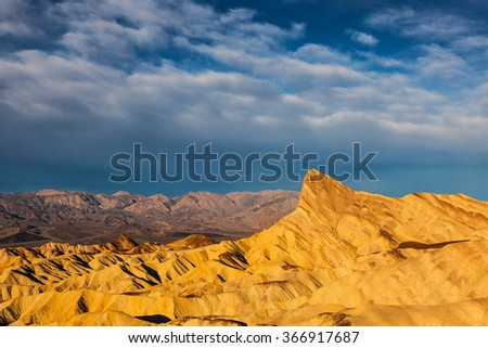 Death Valley National Park Zabriskie Point Badlands