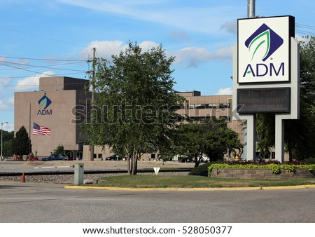 DECATUR, IL, USA - JULY 9: The former headquarters of the Archer Daniels Midland Company in Decatur, Illinois on July 9th, 2016. ADM is a global food processing and commodities trading corporation.
