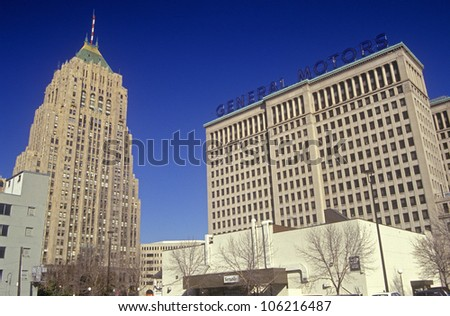 DECEMBER 2004 - General Motors Headquarters in downtown Detroit, MI