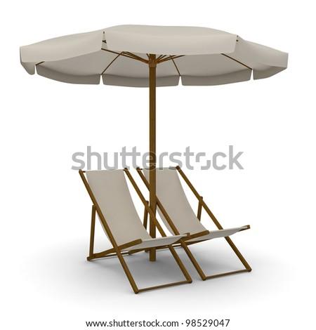 Deck Chairs With Beach Umbrella