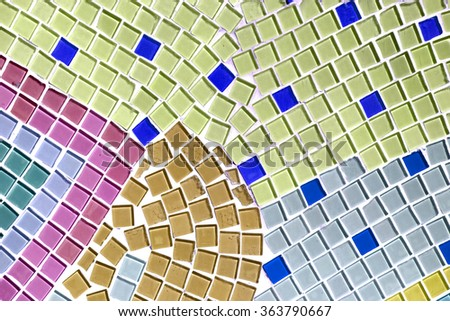 Decoration Colorful Glass Mosaic Art Abstract Stock Photo 363788702 ...