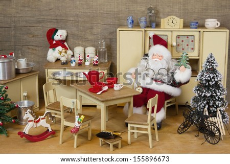 Decoration Of Miniature Dollhouse Stock Photo