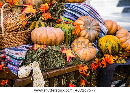 Decoration with pumpkin
