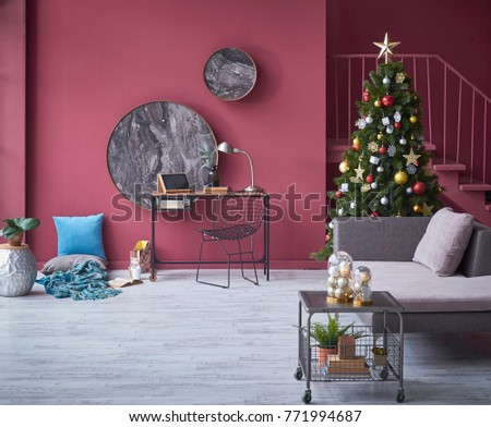 Decorative Living Room Interior Concept Technological Stock Photo ...