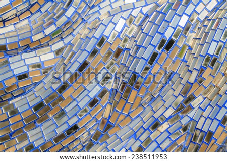 Decorative stained old glass pattern design on wall
