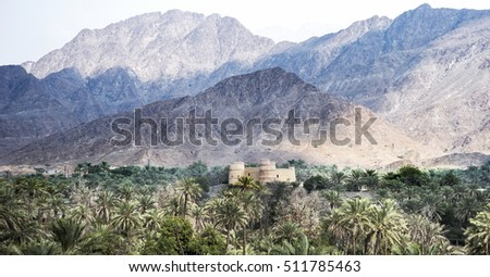 Defensive fort in mountains , UAE