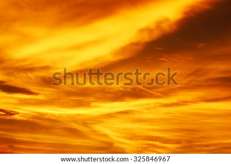 Defocused of sunset sky background.
