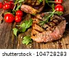 Delicious beef steak - stock photo