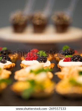 Delicious Canape of Mini Tarts