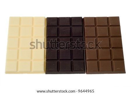 delicious chocolate isolated on a white background