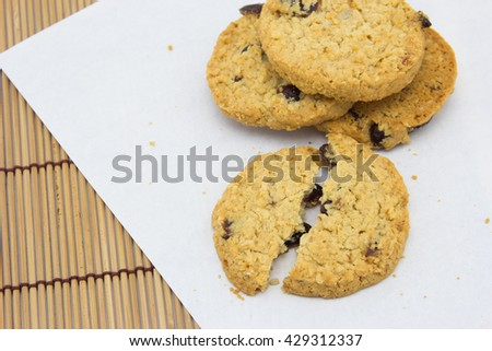 Delicious crisp oaty biscuits