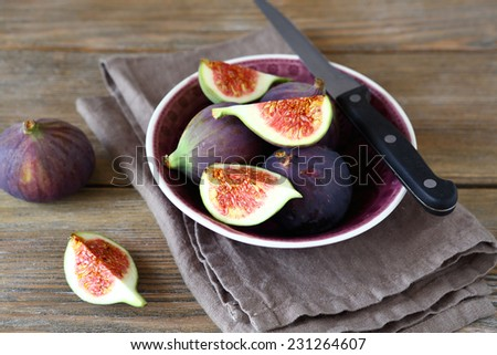 Delicious figs in a bowl, healthy food