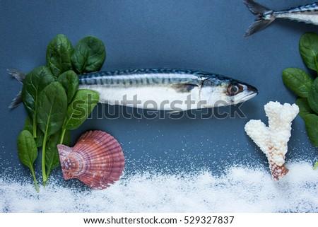 Vector illustration grill prepared fish lemon stock vector for Aromatic herb for fish