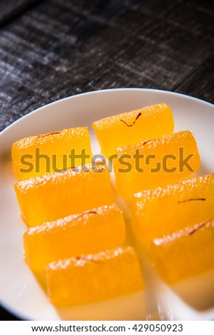 Delicious Sweet Pumpkin Pieces or Dry kesar Petha sweet