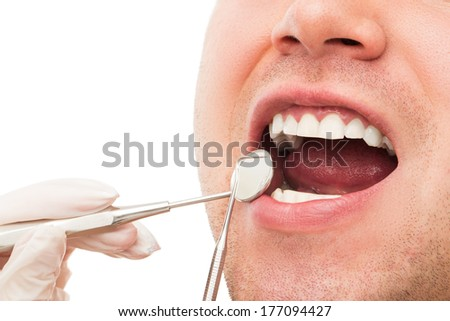 Dentistry. Young guy and his teeth