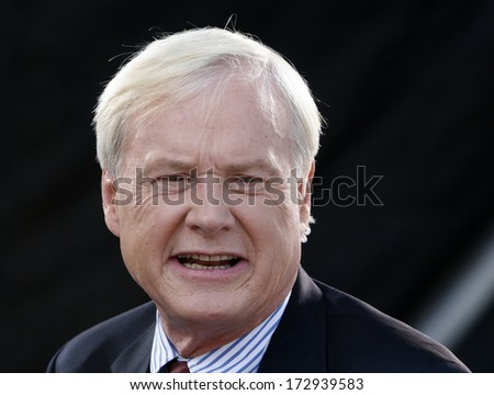 DENVER-AUG. 24:MSNBC TV pundit Chris Matthews speaks during a live broadcast from the Democratic National Convention on August 24, 2008.