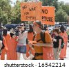 Denver - August 25: Democratic National Convention, Anti-War activists march. - stock photo