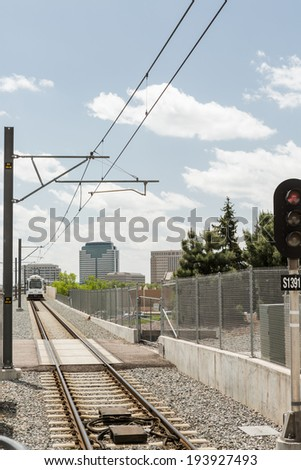 Denver, Colorado/ USA - May 20, 2014. Empty Orchard Station during the middle of the day.