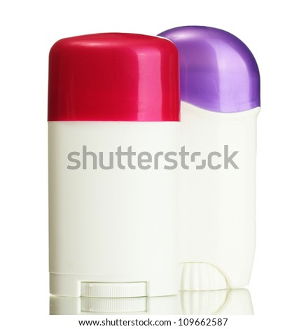 deodorant on grey background