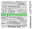 Depression and crisis concept in info-text graphics on white background - stock photo