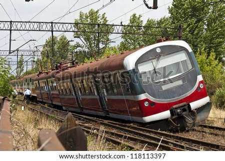 Derailed train electric multiple unit