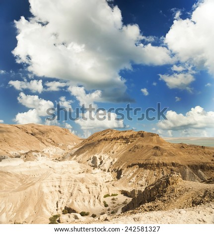 Desert landscape near the Dead Sea. Israel