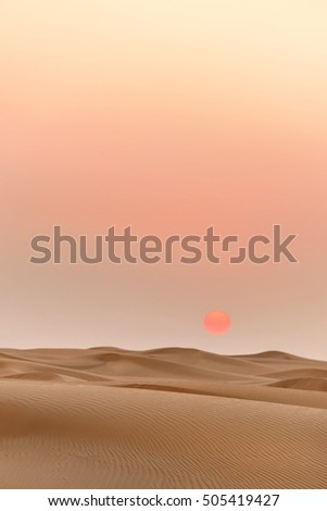 Desert Sunset in Dubai