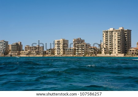 deserted town Varosha in Northern Cyprus