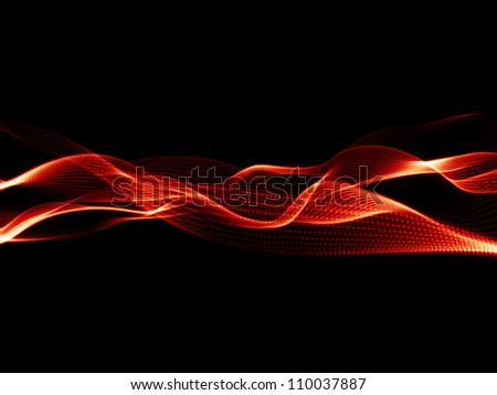 Design composed of sine wave as a metaphor on the subject of technology, science and media communications