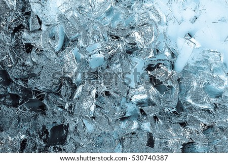 design element. ice background - broken ice texture