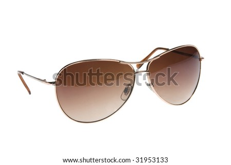 Design sunglass on the white background