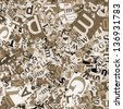 Designed background. Collage made of newspaper clippings. - stock photo