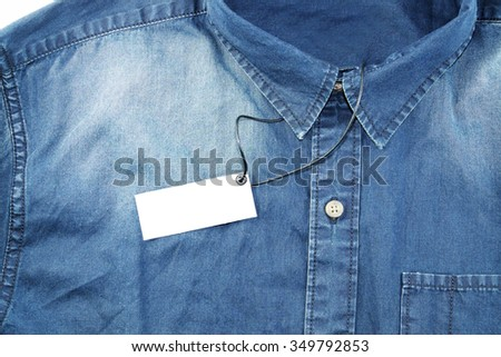 detail blue jean male shirt