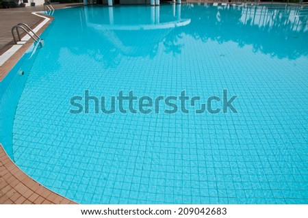 detail of beautiful swimming pool