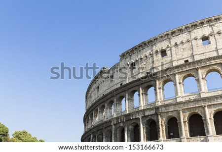 Detail of Colosseum in Rome, Italy