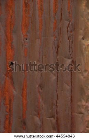 detail of corrugated metal wall in an industrial district of Portland Oregon